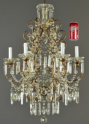 Marie Antoinette Large Crystal Chandelier Vintage Antique French