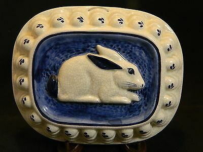 Vintage Dedham Pottery Rabbit Jello Mold by The Potting Shed Very Good Condition
