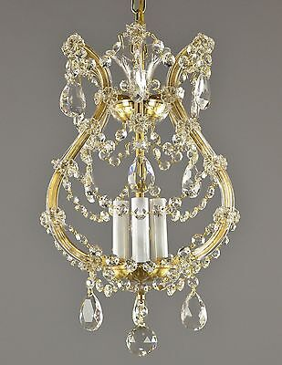 Marie Therese Italian Crystal Pendant Chandelier c1950 Vintage Antique French