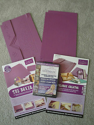 Crafters Companion Boards~DVD ~Envelobox Creater~The Boxer~Boards for  Ultimate