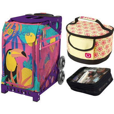 Zuca Sport Toucan Dream Bag & Purple Frame, Gift Lunchbox + Pouch (Ltd. Ed.)