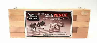 New in Package Breyer Animal Creations No. 7500 Assembled Fold Out Breyer Fence