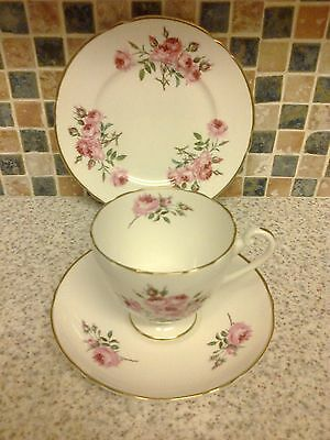 Pretty Vintage Shelley English China trio cup saucer plate Pink Roses design 932