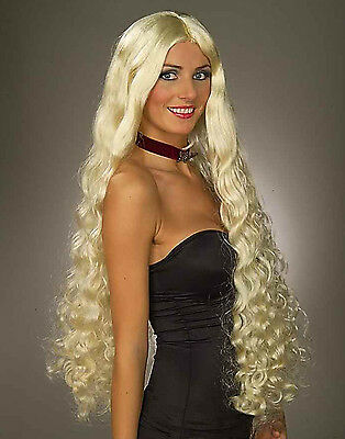 Adult Long Blonde Wig Renaissance Witch Costume Mesmerelda Wig