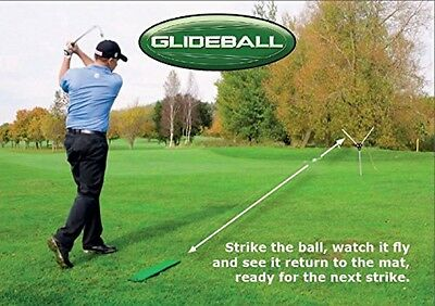 Golf Swing Training Aid Ball Return System Outdoor Golfer Practice