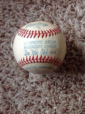 Vintage Lee Mac Phail American League Baseball Blank Unsigned