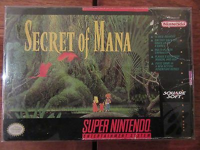 Secret of Mana (Super Nintendo Entertainment System, 1993) Box Only No Game