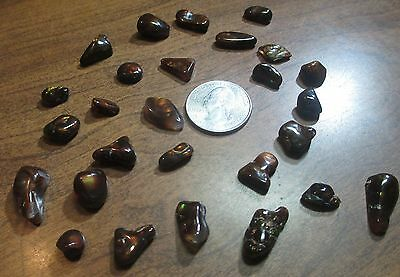 Natural Free form MEXICAN Fire Agate GEM stone Tumbled  LOT OF 27