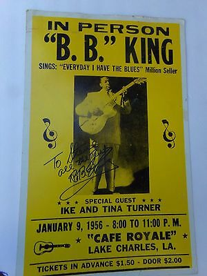 B B King autographed  poster, signed To Steve It can be framed for extra,