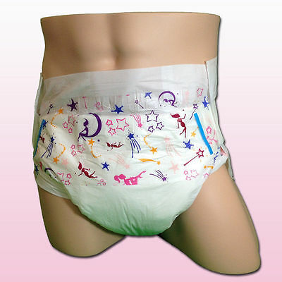 Pack of 2 ABU ABUniverse Sissy Size Medium - Vintage Adult Diapers