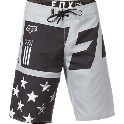 Fox Racing Red White and True Mens Boardshorts Black