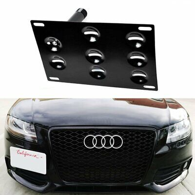 Bumper Tow Hook License Plate Mounting Bracket For Audi A4 A5 S4 S5 RS5 A7 S7 A3