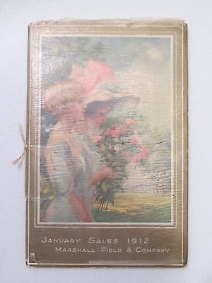 Antique Vtg 1912 Marshall Field January Sales Catalog Womens Edwardian Clothes