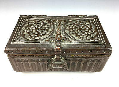 Copper-Clad Ceramic Cigar Humidor Box Arts and Crafts Era Clewell?