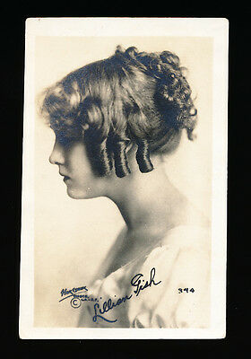 1916-1918 Movie Theater Promotional Card -LILLIAN GISH (First Superstar) *RARE*