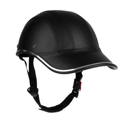 Ultra-light Cycling Helmet PU Baseball Cap Style Bike Motorcycle Visor Black