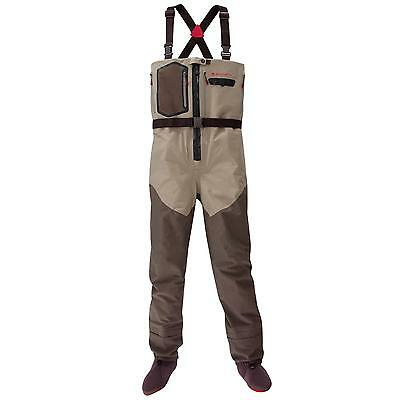 Redington Sonic-Pro Hdz Zip Waders Large New Sonic Pro Clay Dark Earth Zipper