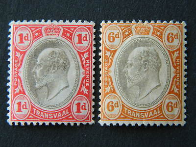 1710 Transvaal Sc 253, 258 (Sg 245, 250) Mounted Mint