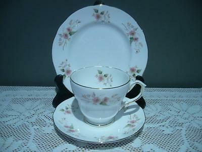 Vintage Duchess Bone China 'glen' Floral Trio - England - Cup Saucer Plate - Vgc