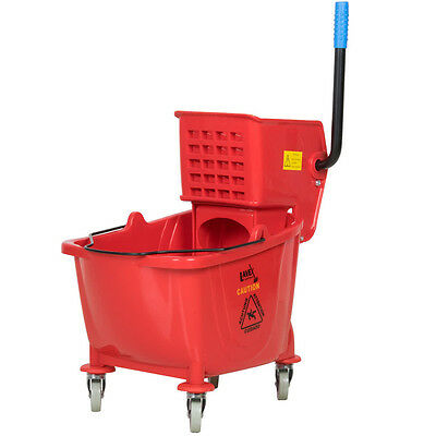 Lavex Janitorial Red 36 Quart Mop Bucket & Wringer Combo