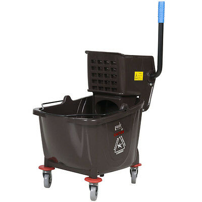 Lavex Janitorial Brown 36 Quart Mop Bucket & Wringer Combo