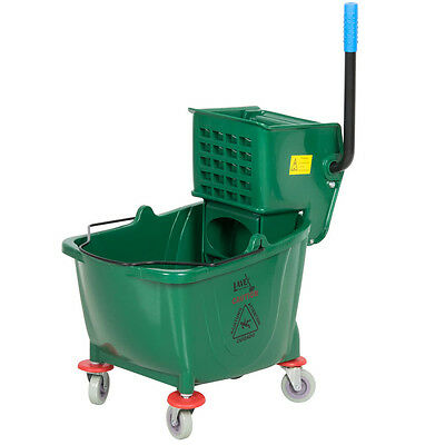 Lavex Janitorial Green 36 Quart Mop Bucket & Wringer Combo