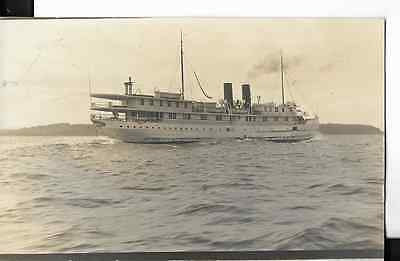 steamer iroquois real photo postcard