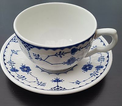 Masons Furnivals Blue Denmark Tea Cup & Saucer - great condition