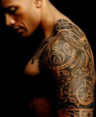 The Rock Dwayne Johnson Tattoo template stencil outline 100% Genuine