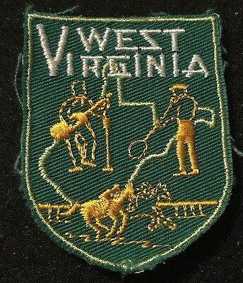 WEST VIRGINIA Vintage Patch State Souvenir Travel VOYAGER Embroidered