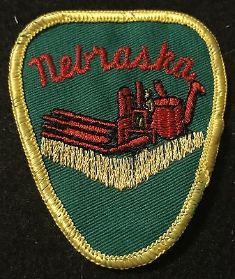 NEBRASKA Vintage Patch State Souvenir Travel Columbine VOYAGER Embroidered