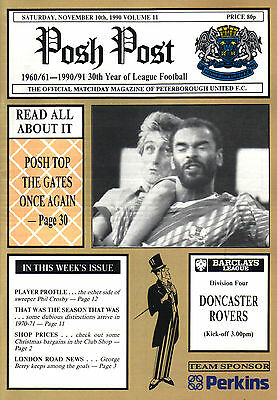 1990/91 Peterborough United v Doncaster Rovers, Division 4, PERFECT CONDITION