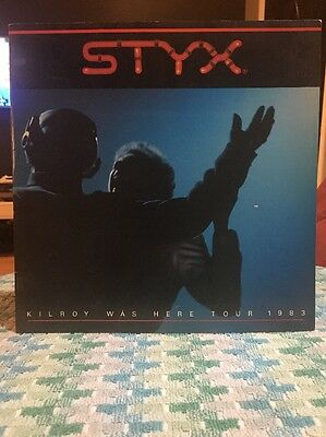 1983 Styx - Kilroy Was Here * Concert Tour Book Rare