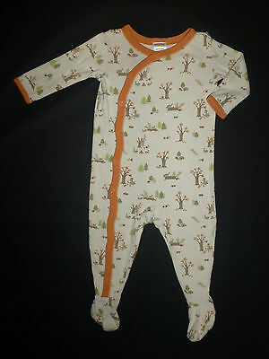 Gymboree Autumn Forest Baby Boys Squirrel Footed Cotton Sleeper Pajamas 6-12 M