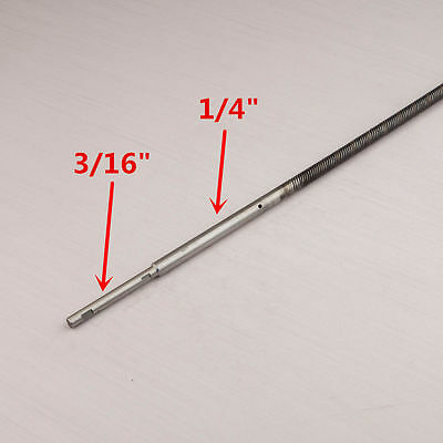 "1/4"" to 3/16"" Flex Cable W/ Stainless Steel Stub Shaft 430mm for RC Boat #1373"