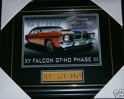 1970-1972 Xy Xw Gtho Phase Iii Ford Falcon Muscle Car 351 V8 Small Print Framed