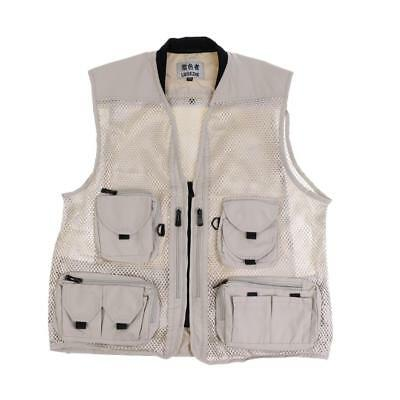 Detachable Multi-Pockets Jacket Causal Photography Mesh Fishing Vest Waistcoat