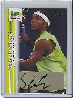 2013 Ace Authentic Grand Slam Tennis Yellow Auto Scoville Jenkins 10/10