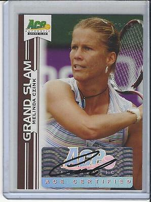2013 Ace Authentic Grand Slam Tennis Brown Auto Autogramm Melinda Czink 6/15