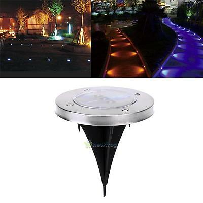 Waterproof Solar 3-LED Lawn Light Ground Buried Lamp Garden Pathway Lighting