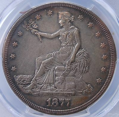1877-S T$1 Trade Dollar Pcgs Au50 Conservatively Graded Nice Original Patina