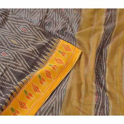 Sanskriti Vintage Indian Saree Woven Patola Sari Fabric Pure Cotton Soft Purple