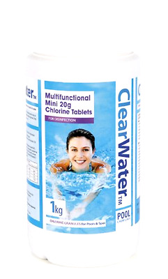 Pool Maintenance Cleaning Mini Tablets Algaecide Chlorine Clear Water Cleaner