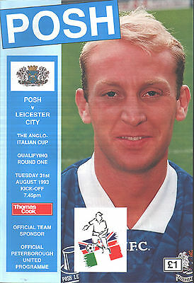 1993/94 Peterborough United v Leicester City, Anglo-Italian Cup, PERFECT