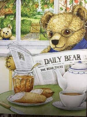 Hunkydory 24 X A6 Sheets, Card Toppers ~ The Little Book Of Teddy Bears