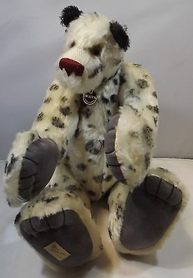 "Large Ltd. Ed. 20"" Dean's Artist Mohair Teddy Bear 'spotted Dick' By Jill Clark"