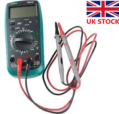 UK Professional Universal Digital Voltage Multi Meter Test Probe Wire Pen Cable