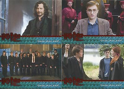 Harry Potter Order Of The Phoenix 4 Card Red Stamped Promo Set - San Diego Ex.