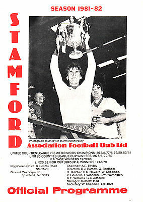 1981/82 Stamford v Boston FC, Lincolnshire Cup Final, PERFECT CONDITION