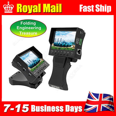 """4.3"""" TFT LCD Handy CCTV Camera Audio Video Security Cable Test Monitor Free ship"""
